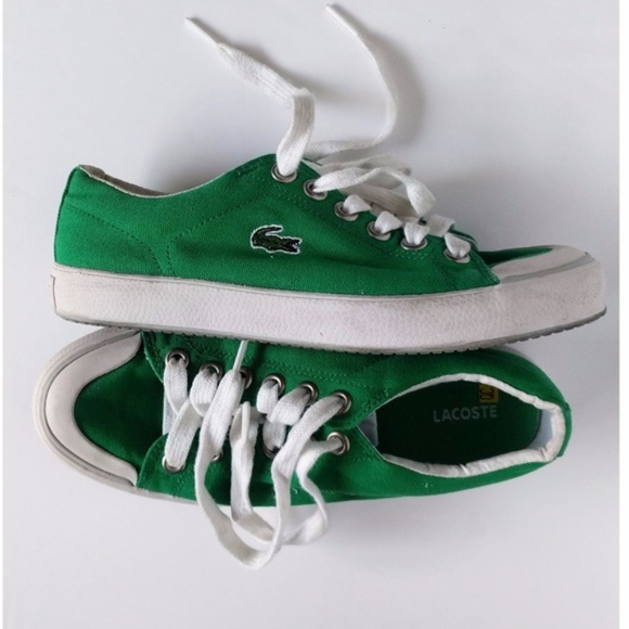cfc533906 Lacoste Shoes - Lacoste - Shoes Canvas Green Chuck Style Sneaker